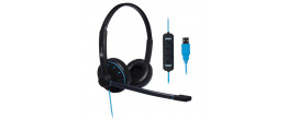 JPL Blue Commander- 2 USB Headset Dual