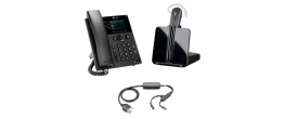 Plantronics CS540 and Polycom VVX250 Small Office Bundle