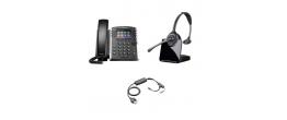 Polycom VVX 411 and Plantronics CS510 Small Office Bundle