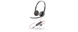 Plantronics Blackwire 3225 Binaural Corded USB-A Headset 209747-101