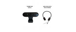 VS1080P Web Camera and Jabra Evolve 20 UC Stereo Headset Conferencing Bundle