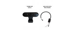 VS1080P Web Camera and Jabra Evolve 20 UC Mono Headset Conferencing Bundle