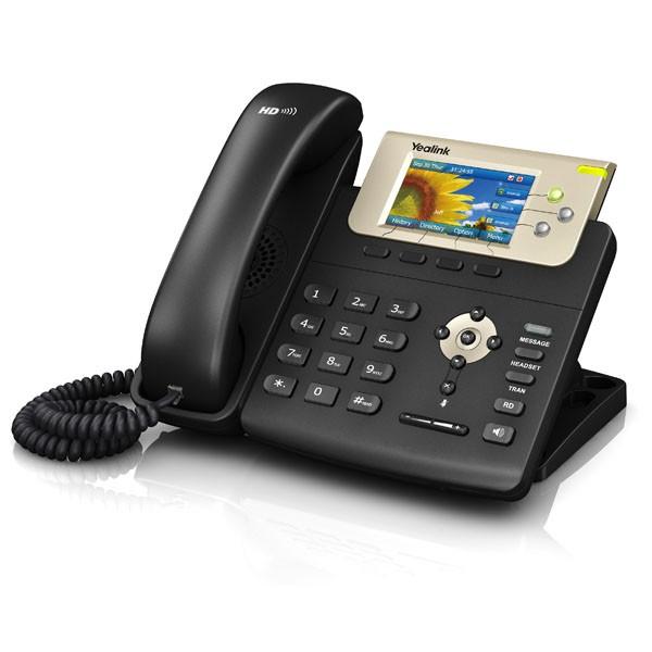 3-line Color Gigabit VoIP Phone