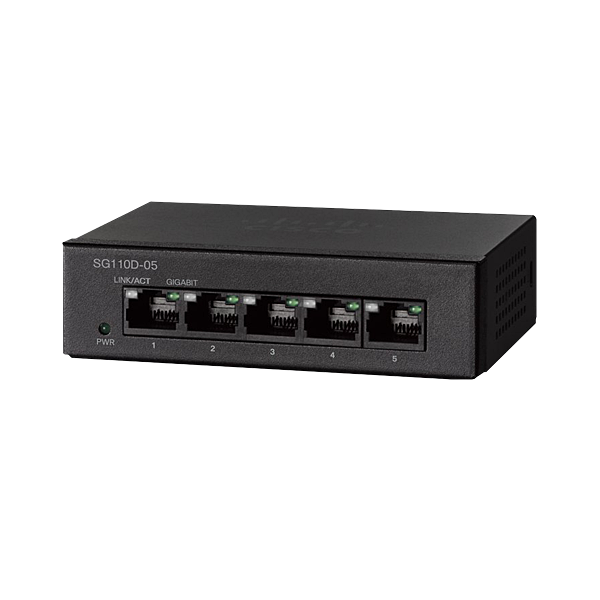cisco ethernet unmanaged switch 5 port sd110d 05na 100. Black Bedroom Furniture Sets. Home Design Ideas