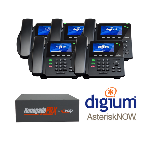 RenegadePBX mini with Asterisk now and Digium D60 Phones Small Business Analog Solution
