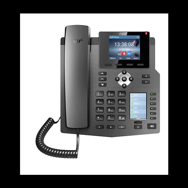 Fanvil X4G 4 Line Enterprise Multi Color Screens Gigabit Phone,30 DSS Keys