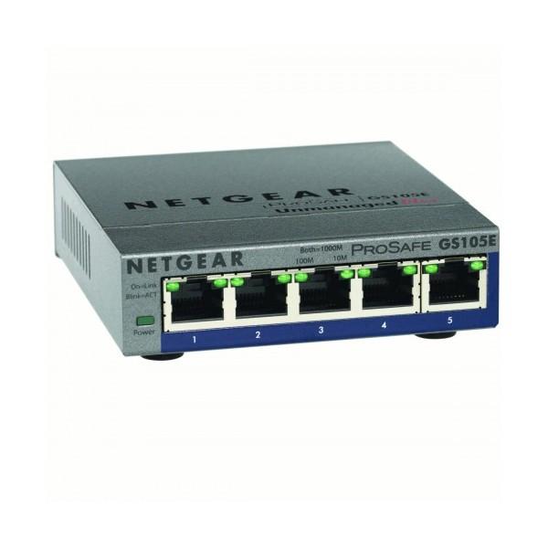 Netgear | GS105E-200NAS | 5-port ProSAFE Plus Switch