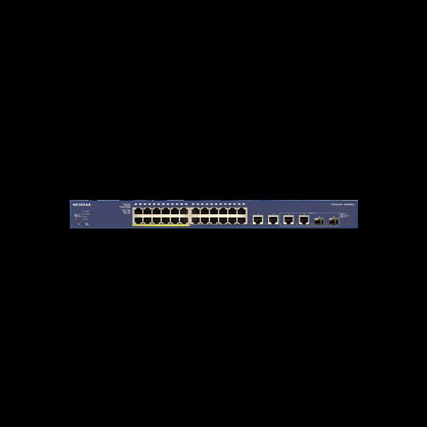 Netgear FS728TLP 24-port PoE Smart Switch w/ 2 fiber ports