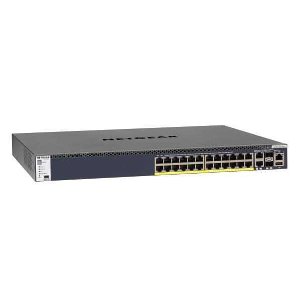 NETGEAR M4300-28G-PoE+ (1,000W PSU) Stackable Managed Switch (GSM4328PB)