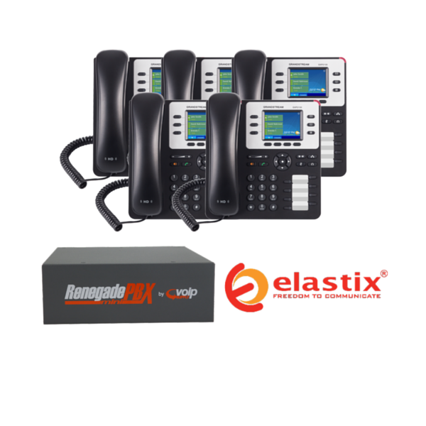 RenegadePBX mini Appliance Bundle with Elastix Software and Grandstream GXP2130 VoIP Phones