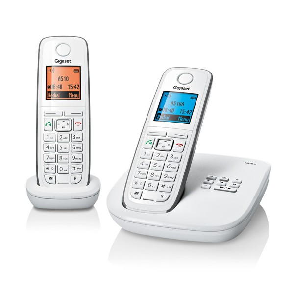 siemens gigaset a510a duo white voip supply. Black Bedroom Furniture Sets. Home Design Ideas