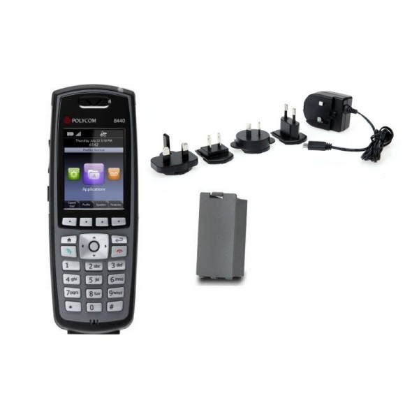 Spectralink 8440 Black Single Handset Bundle 3