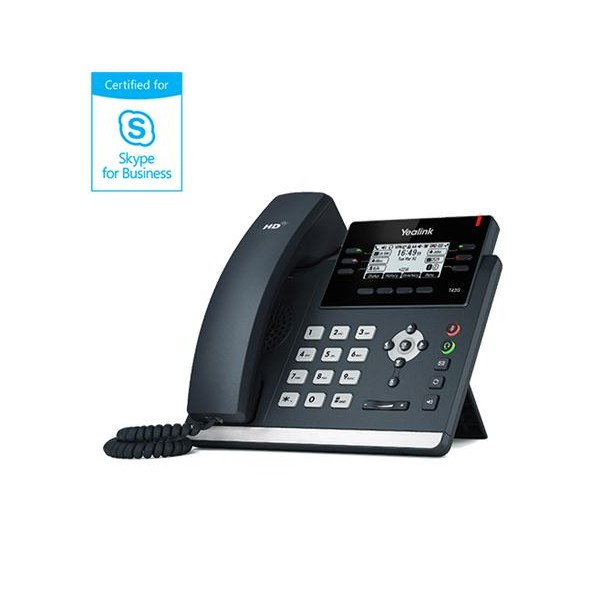 Yealink T41P Skype For Business IP Phone (Yea-SFB-T41P)