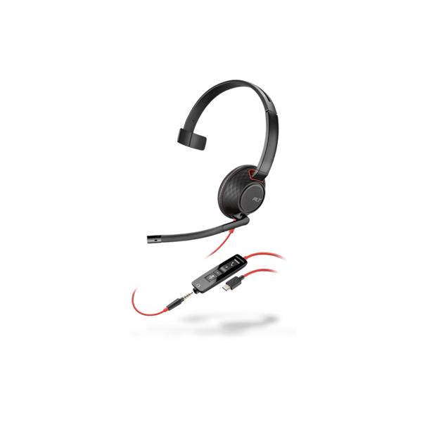 Plantronics Blackwire 5210 USB-C Monaural Headset 207587-01
