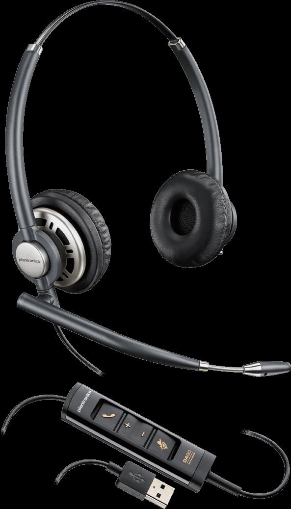 490b8f283bf ENCOREPRO 700 USB Series Binaural Over-the-head NC Headset HW725 ( Plantronics 203478