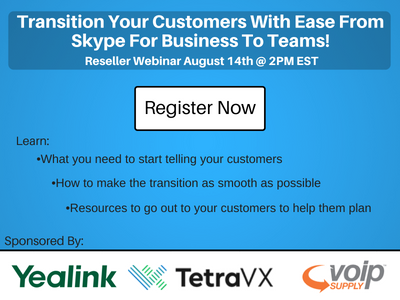 Transition your customer with ease from SFB to Teams