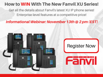 How you can win with Fanvil's new XU Series IP phones