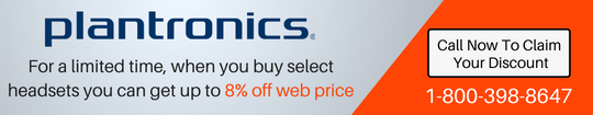 Special Pricing on certain Plantronics models!