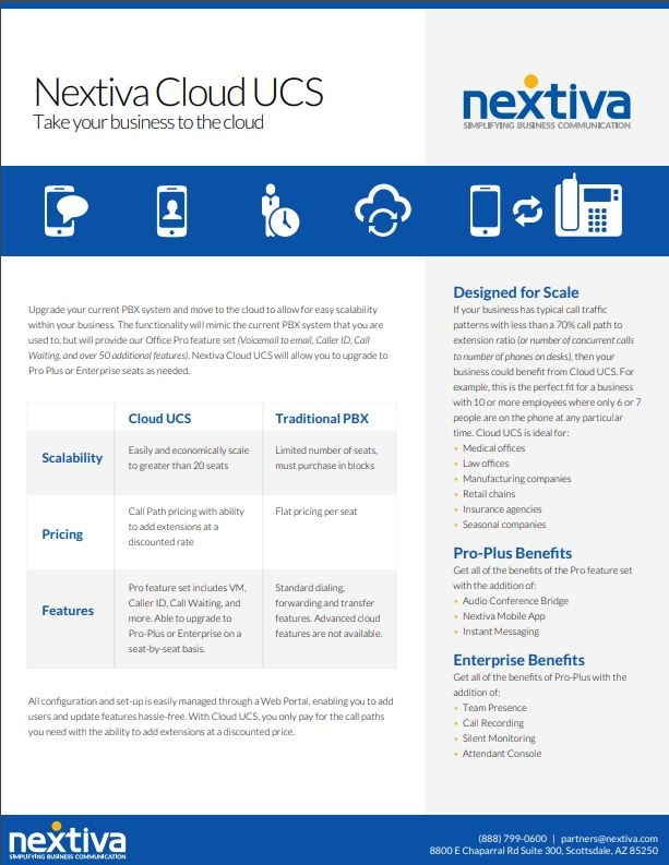 Nextiva CloudUCS