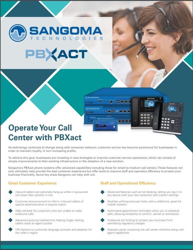 PBXact contact center