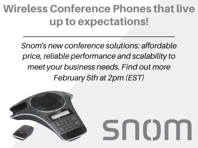 Snom conference phone webinar