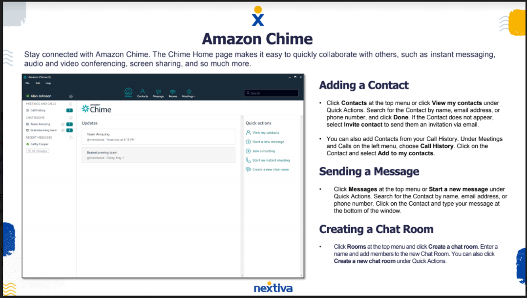 Nextiva Amazon Chime