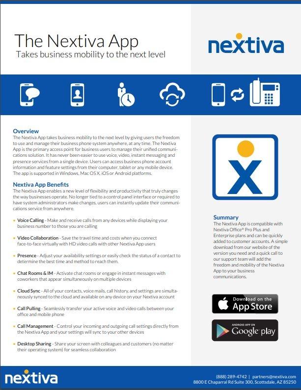 The Nextiva App