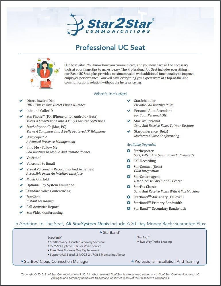Professional UC Seat
