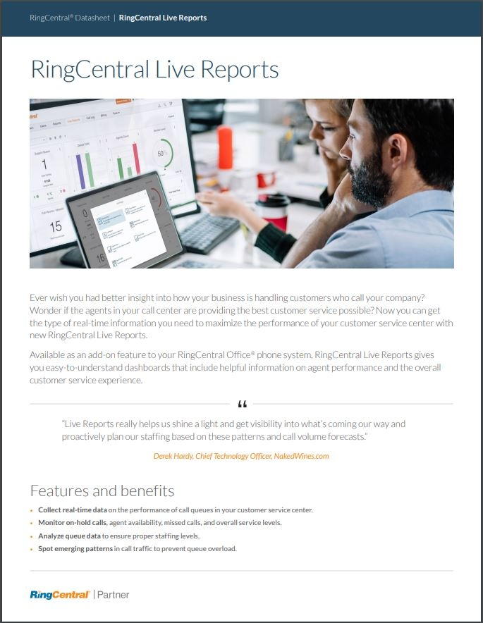 RingCentral Live Report